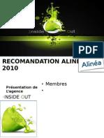 recommandation alinéa 2010