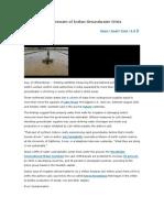 Indian Groundwater Crisis