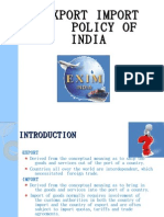 Export Import Policy of India