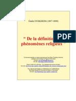 Durkheim - phenomene_religieux