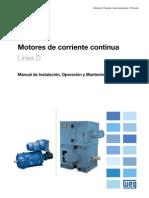 WEG Motor de Corriente Continua Manual Espanol