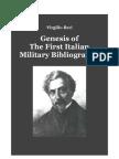 ILARI Virgilio. Genesis of the First Italian Military Bibliography