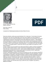 Gestos de Adónis, artigo de Isabel Ponce de Leão