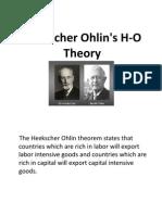 Heckscher Ohlin's H-O Theory