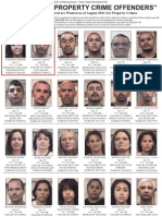 August 2011 Property Crime Offenders