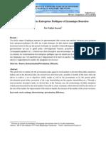 Restructuration des Entreprises Publiques et Dynamique Boursière