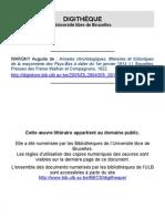 Anales FM Des Pays-bas (Tome1)