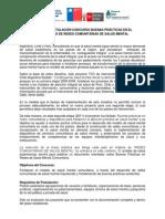 Mejores Prácticas en el Desarrollo de Redes Comunitarias en Salud Mental