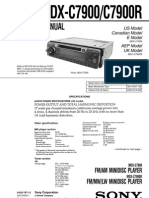 Sony MDX-C7900R Service Manual