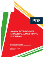 Manual Sindicancia Processo Administrativo Disciplinar AugeMG