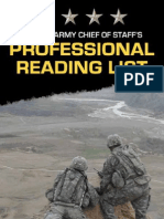 THE U.S. Army CHIEF OF STAFF'S PROFESSIONAL READING LIST