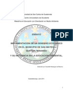 Ensayo Implementacion de Un Sendero Ecologico en San Mateo Quetzaltenango
