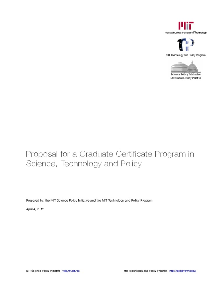 Proposal mit graduate science policy certificate program proposal mit graduate science policy certificate program massachusetts institute of technology doctor of philosophy 1betcityfo Choice Image
