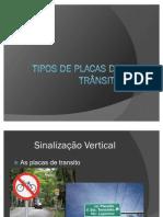 Tipos de placas de trânsito