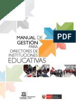 Manual de gestión para directores de instituciones educativas