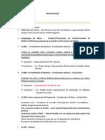 PROGRAMAÇÃO  DA II CONFERENCIA DA MULHER NATAL RN