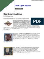 Boards Running Linux