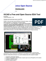 KiCAD a Free and Open Source EDA Tool