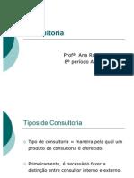 Aula - Tipos de Consultoria