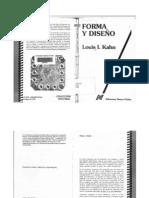 Extracto libro Forma y Diseño - Louis Kahn