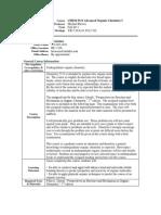 UT Dallas Syllabus for chem5331.501.11f taught by Michael Biewer (biewerm)