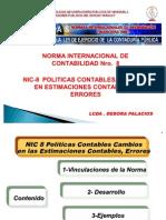 NIC 8 Politicas Contables,  Estimaciones y Errores