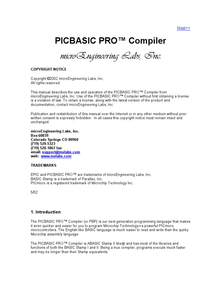 Pic Basic Pro Guide Microcontroller Command Line Interface Counter Circuit With Pic16f84a Picbasic Electronics Projects