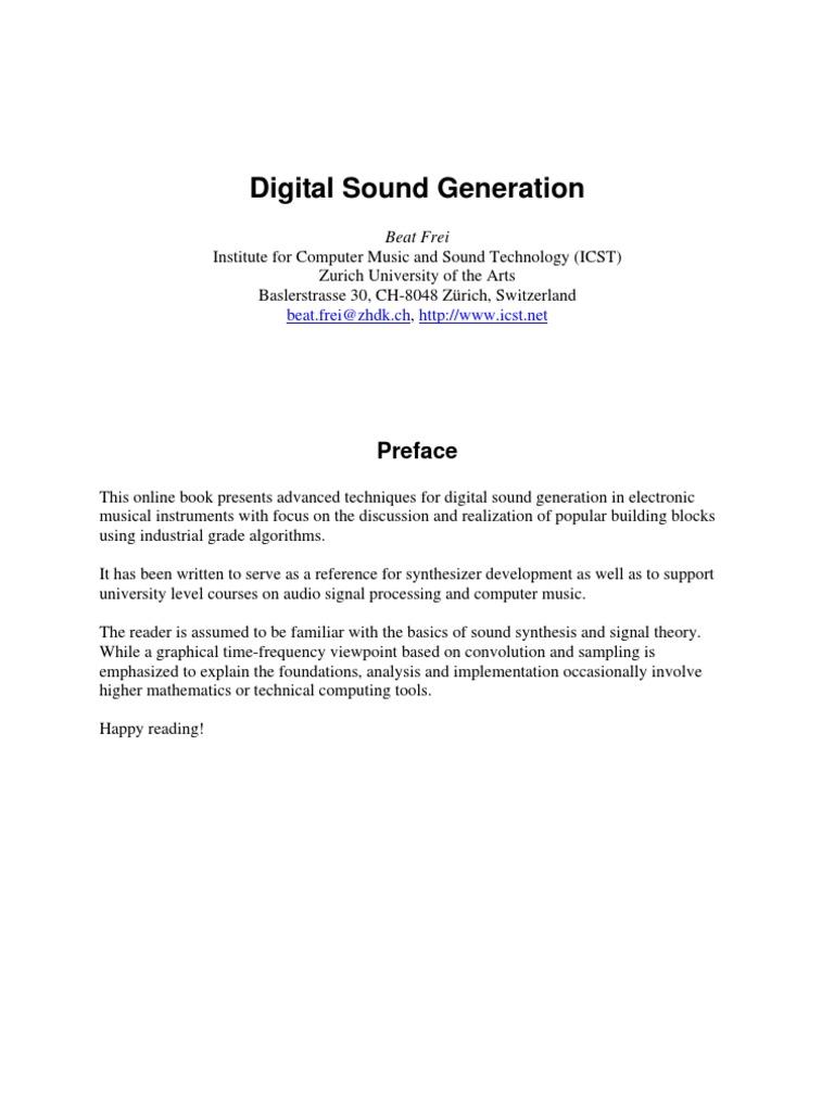 Digital Sound Generation 1 | Sampling (Signal Processing