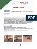 LECCIONES APRENDIDAS. CAIDA DE VASTAGO