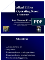 Medical Ethics in the Operating Room