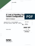 Handling Qualites of Canard