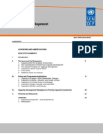 UNDP Capacity Development