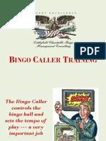 Bingo Caller Training PPT