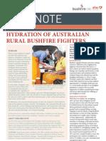 Hydration of Australian Rural Bushfire Fighters