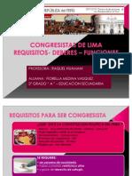 Congresistas de Lima Fiorella