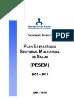 Politicas Nacionales Salud-Peru-Plan Estrategico Sectorial Multianual 2008-11