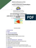Les changements climatiques et leur impact sur les ressources en eau en Algeérie