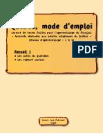 Québec mode d'emploi 1 pdf