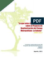 Lo que todos debemos saber sobre el Proyecto de Rearborización de la Sabana