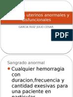 Sangrados Uterinos Anormales y Dis Funcionales Julio