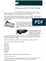 Re Manufacturing the Samsung ML-2525 Toner Cartridge -- Recharger