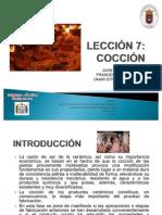 LECCIÓN 7 - PROCESO DE COCCION