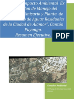 """Resumen Ejecutivo del Proyecto """"Planta Tratamiento Alamor"""""""