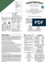 PBC Bulletin - August 14