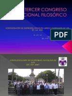 TERCER CONGRESO NACIONAL FILOSÓFICO