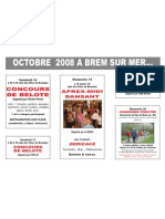 Animations d'octobre 2008 à Brem sur mer France