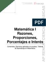 Razón, Porporción y Porcentaje