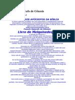 Os Livros Apócrifos da Bíblia - Livro de Melquisedeque - 3 Páginas - Português