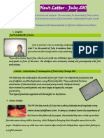 July Newsletter Class 5