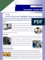 July Newsletter Class 7